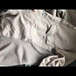 James Perse Tops - Beige button down shirt